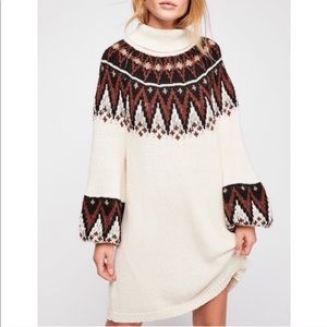 NWT Free People Scotland Sweater Dress